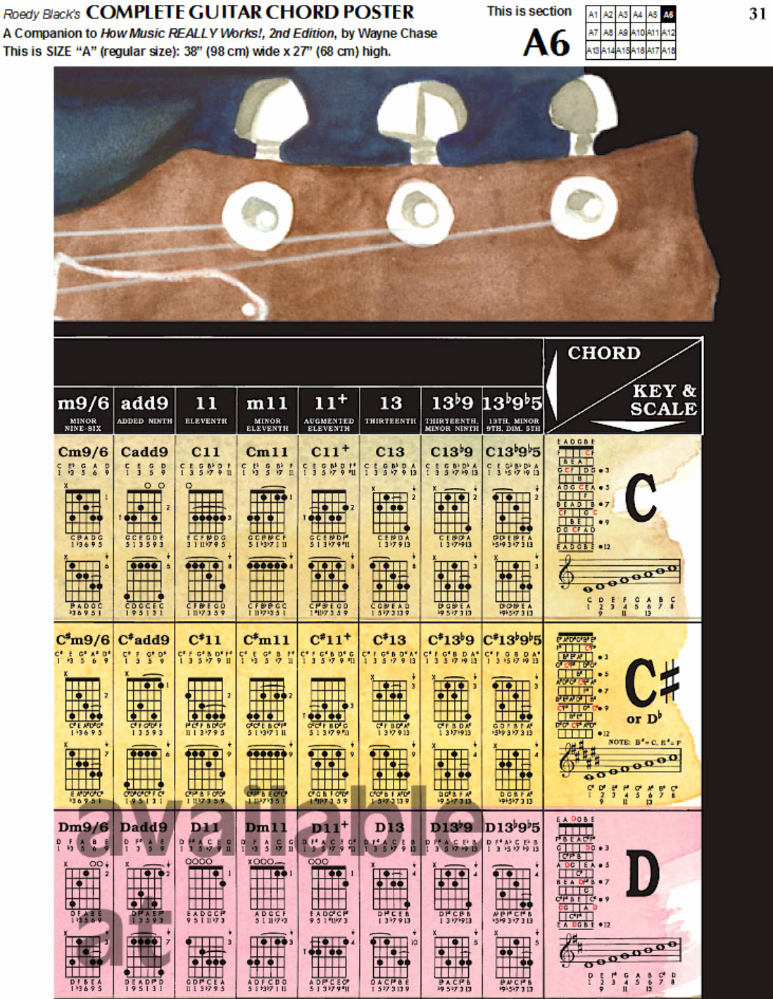 Complete Guitar Chord Chart Luxury Download Plete Guitar Chord Chart Template for Free