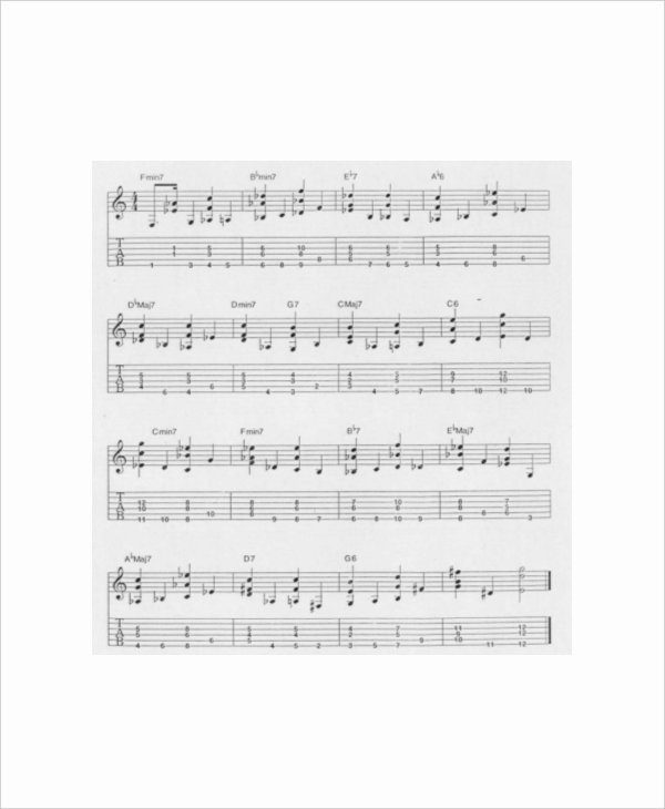 Complete Guitar Chords Charts Inspirational 6 Plete Guitar Chord Charts Free Sample Example