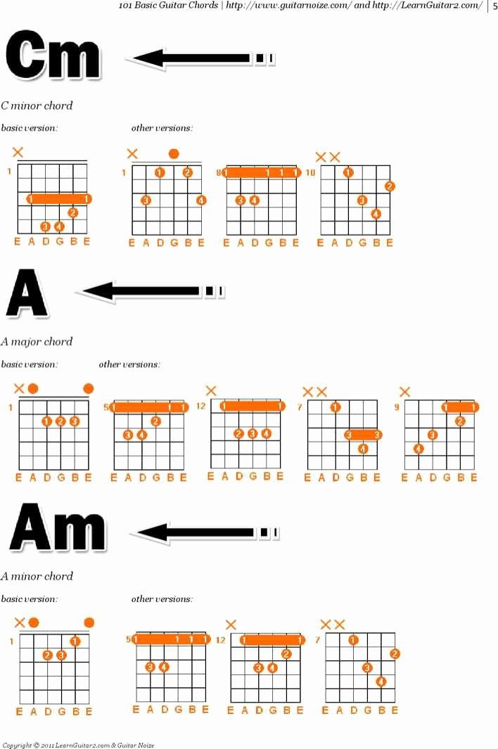 Complete Guitar Chords Charts New Download Plete Bass Guitar Chord Chart for Free