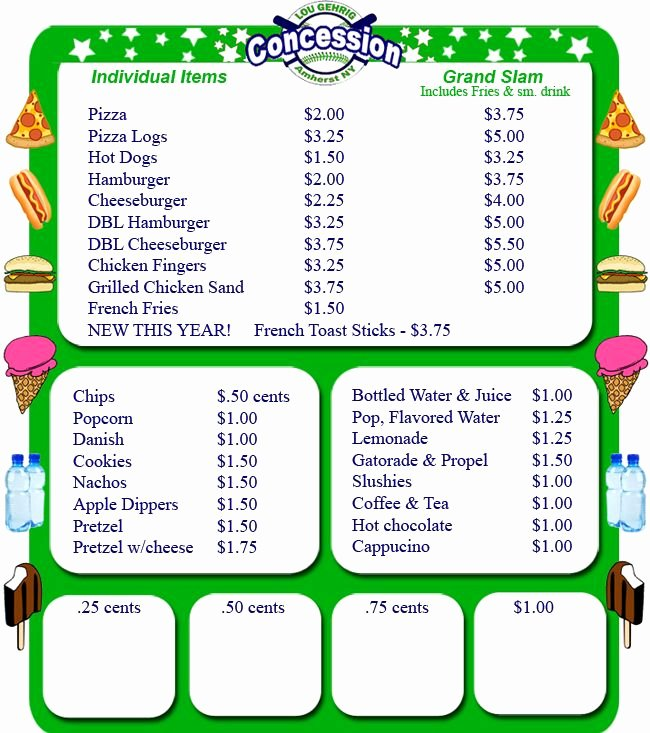 Concession Stand Price List Template Best Of 25 Best Ideas About Concession Stands On Pinterest