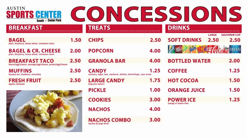 Concession Stand Price List Template Fresh Concession Stand Food