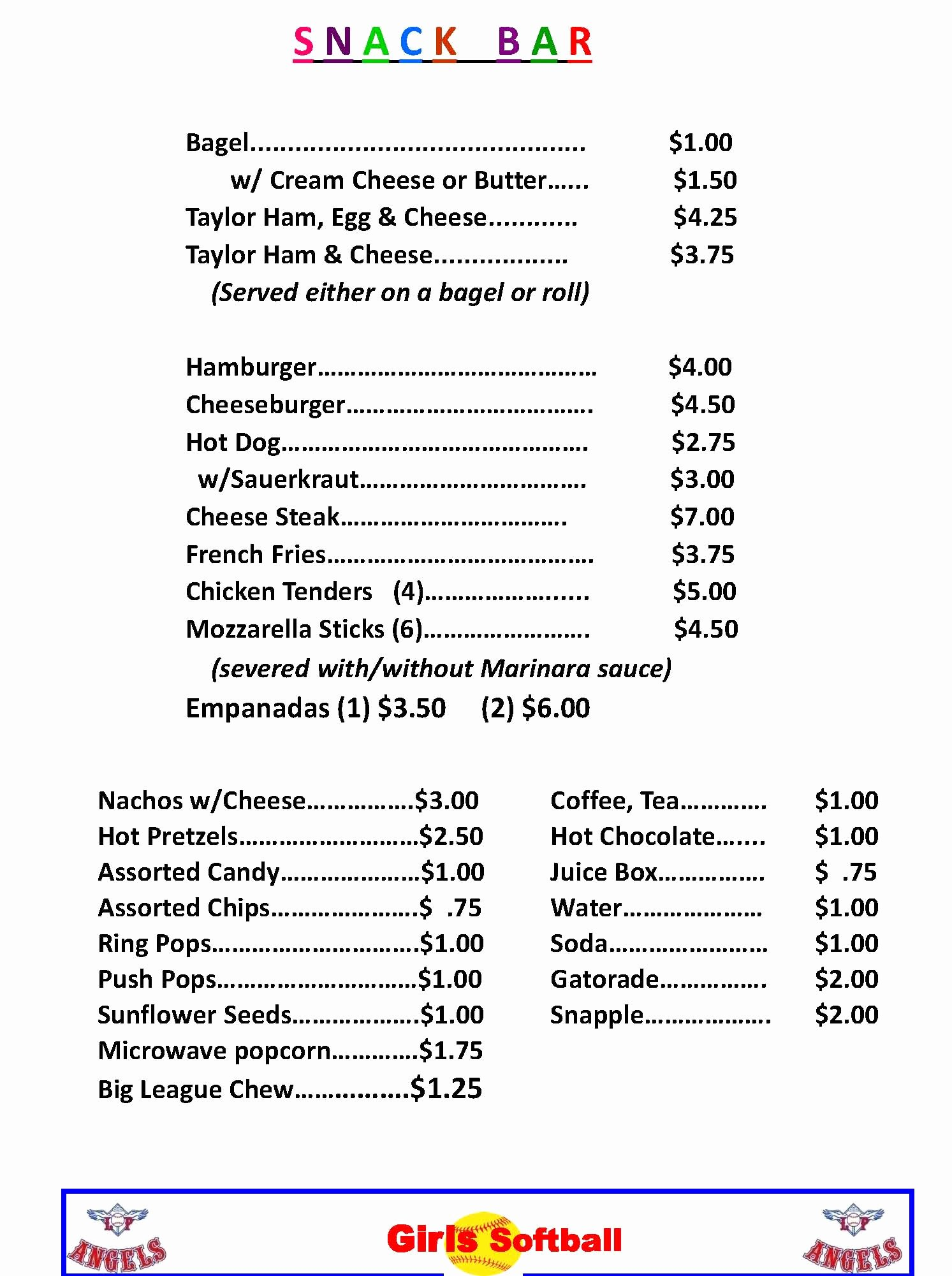 Concession Stand Price List Template Luxury 18 Of Concession Stand Price Sheet Template