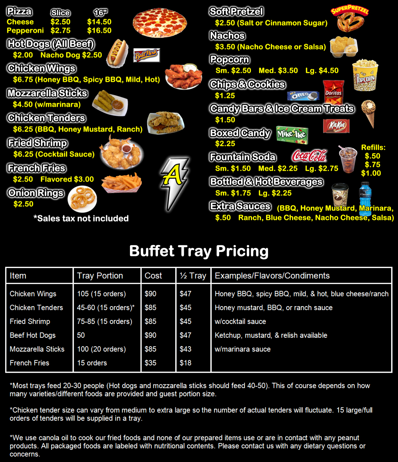 Concession Stand Price List Template New Amped Up Concessions