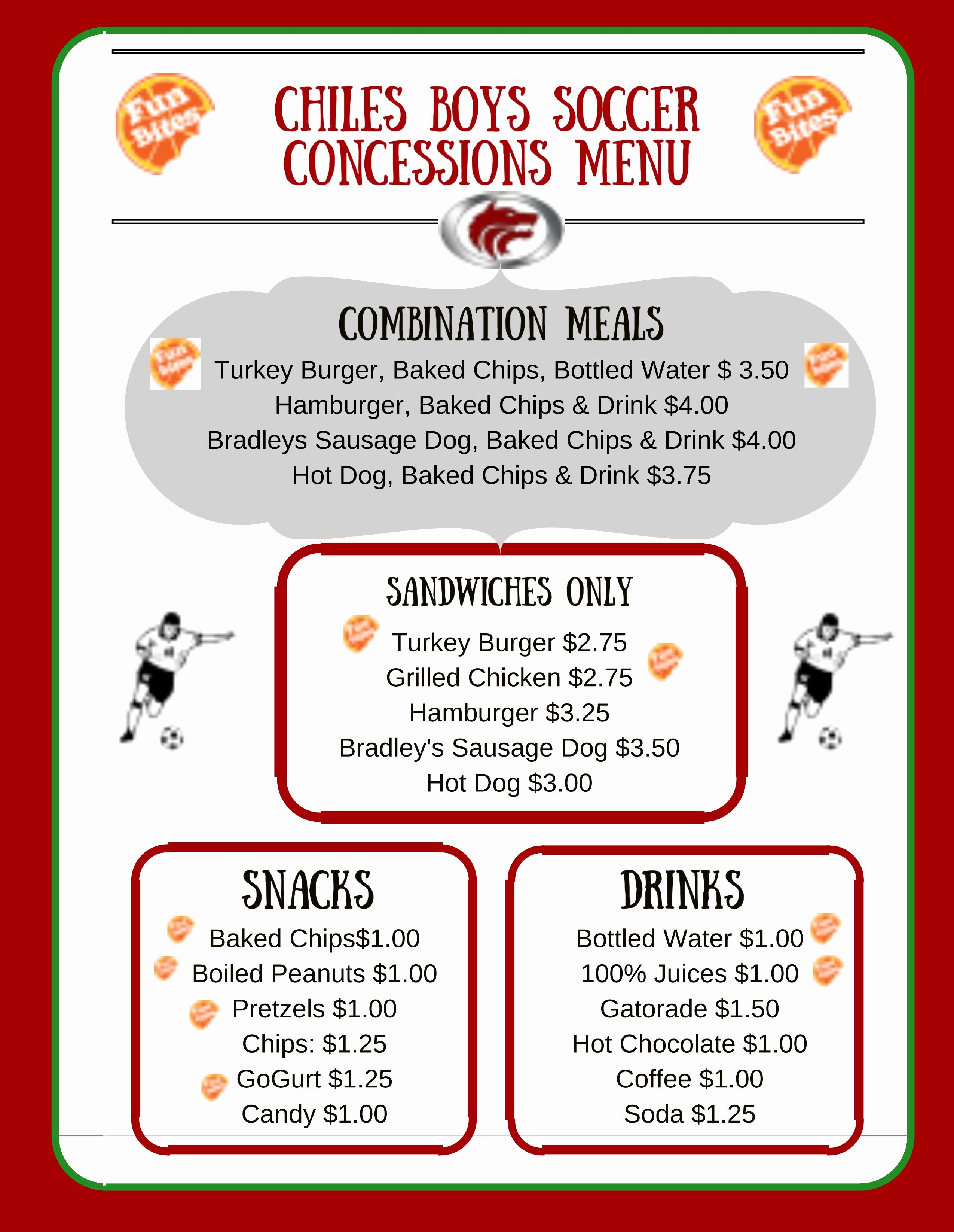 Concession Stand Price List Template New Healthy Concession Stands