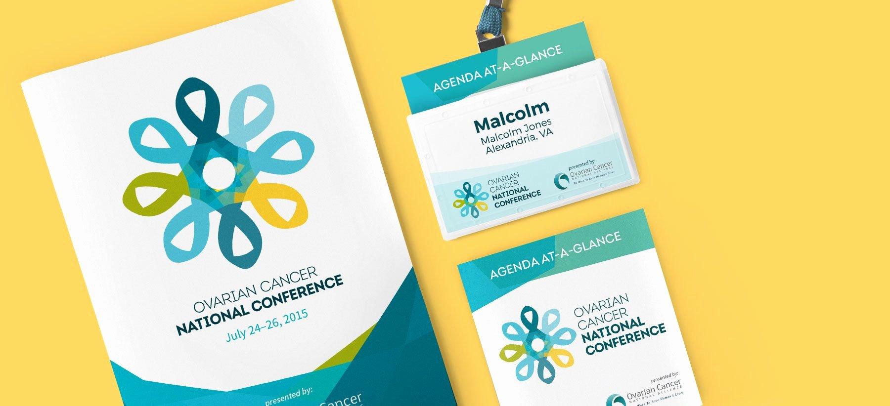 Conference Program Book Template Awesome Conference Program Badge and Pocket Agenda Print Design