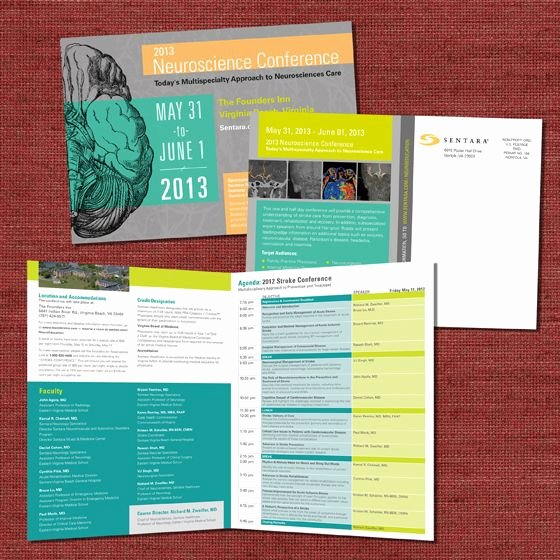 Conference Program Book Template Inspirational Sentara Neuroscience Conference Collateral