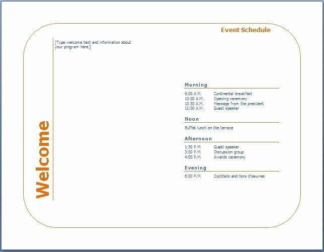 Conference Program Book Template Unique Church Program Booklet Template Templates Resume