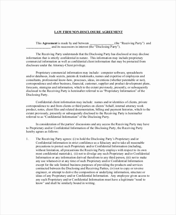 Confidential Notice for Documents Best Of Legal Confidentiality Agreement – 8 Free Word Pdf