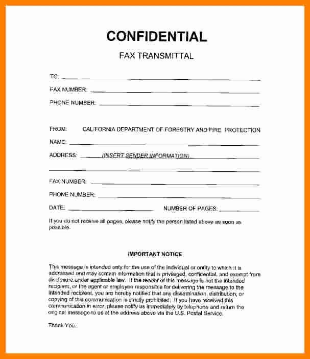 Confidential Notice for Documents Elegant 6 Medical Fax Cover Sheet Confidentiality Statement