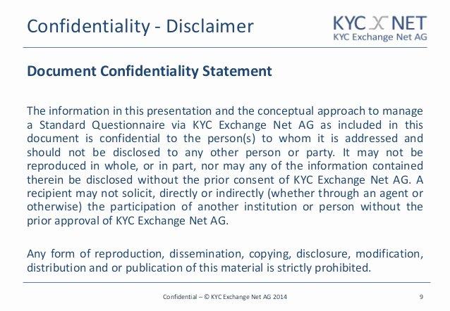 Confidential Notice for Documents Fresh Joachim Von Haenisch Ceo Of Kyc Exchange