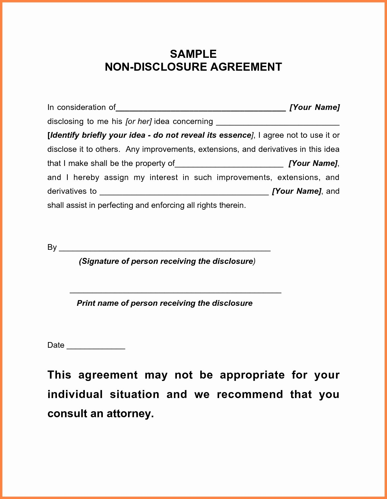 Confidential Notice for Documents Lovely Letter Confidentiality and Nondisclosure Template
