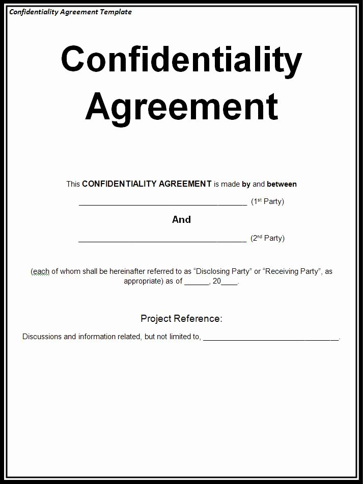 Confidential Notice for Documents Lovely Non Disclosure Agreement Sample Free Printable Documents