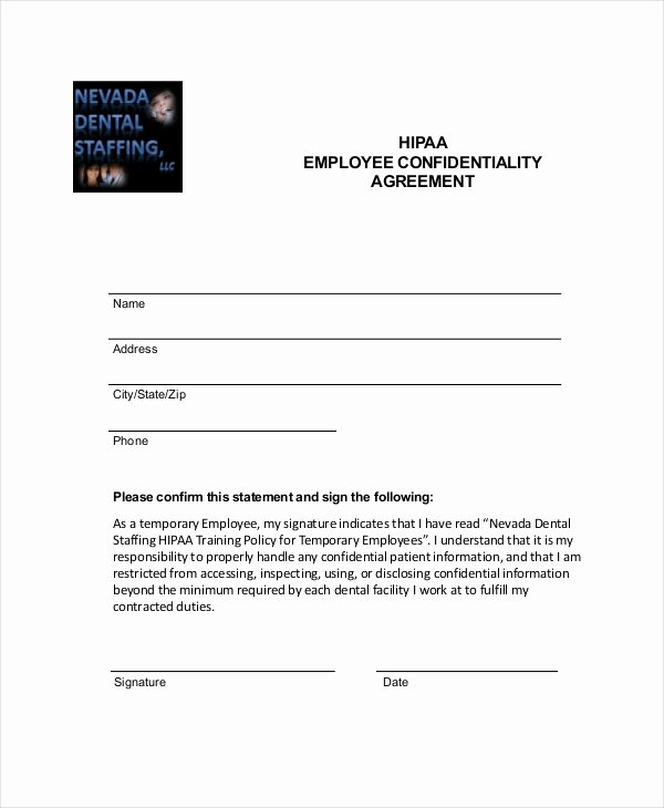 Confidentiality Clause for Documents Best Of Employee Confidentiality Agreement – 10 Free Word Pdf