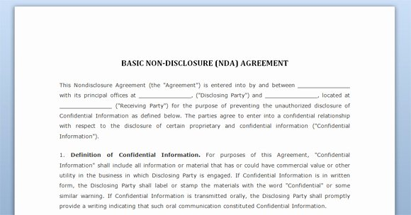 Confidentiality Clause for Documents Lovely Free Confidentiality Agreement Negotiation Template for Word