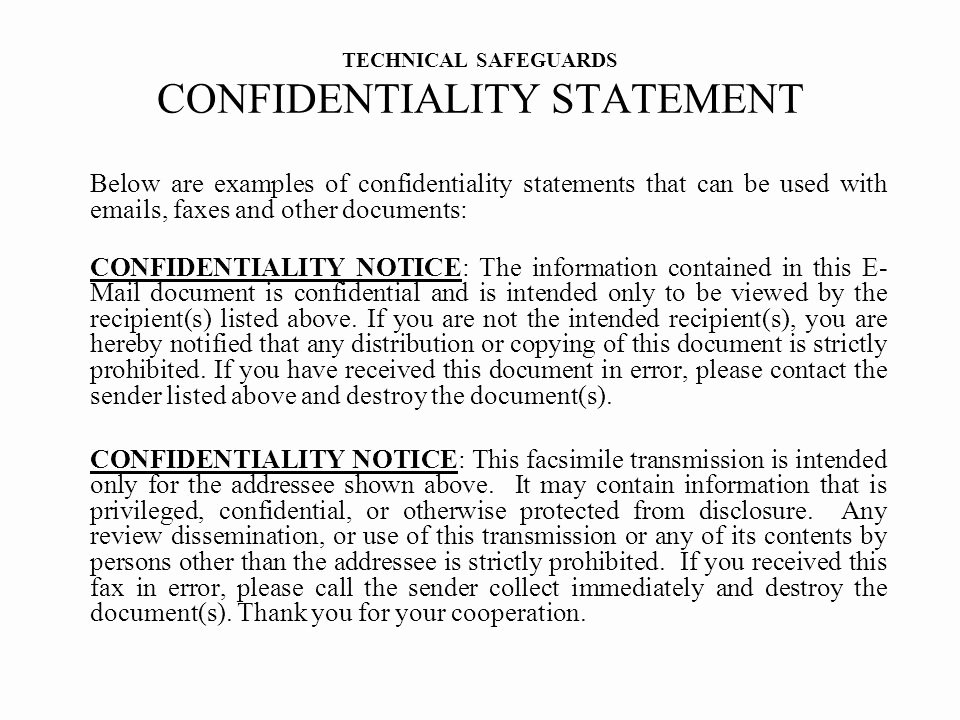 Confidentiality Clause for Documents Luxury T R A I N I N G D H C S I N F O R M A T I O N Ppt