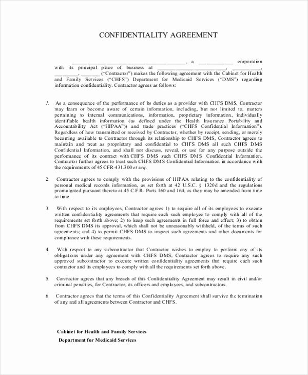Confidentiality Clause for Documents Unique 19 Confidentiality Agreement form Free Documents In