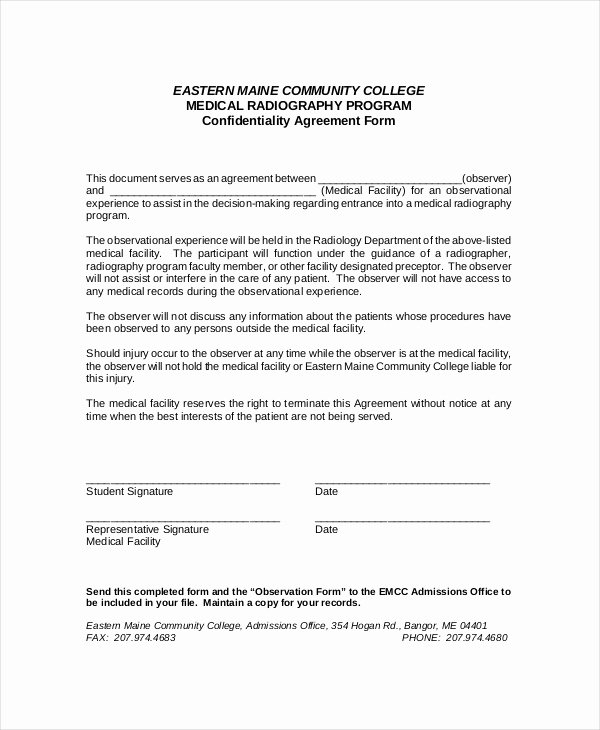 Confidentiality Clause for Documents Unique Confidentiality Agreement Template