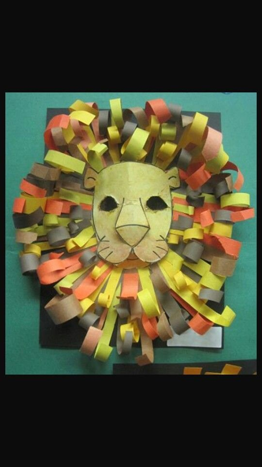 Construction Paper Crafts for Adults Lovely Const Paper Lion Mask Decoration Party Decor