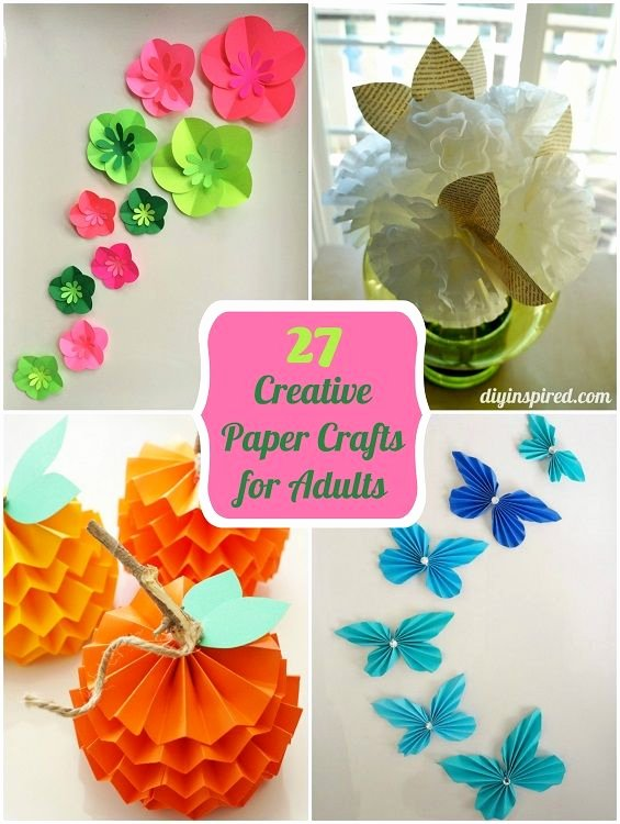 Construction Paper Crafts for Adults Luxury 27 Creative Paper Crafts for Adults
