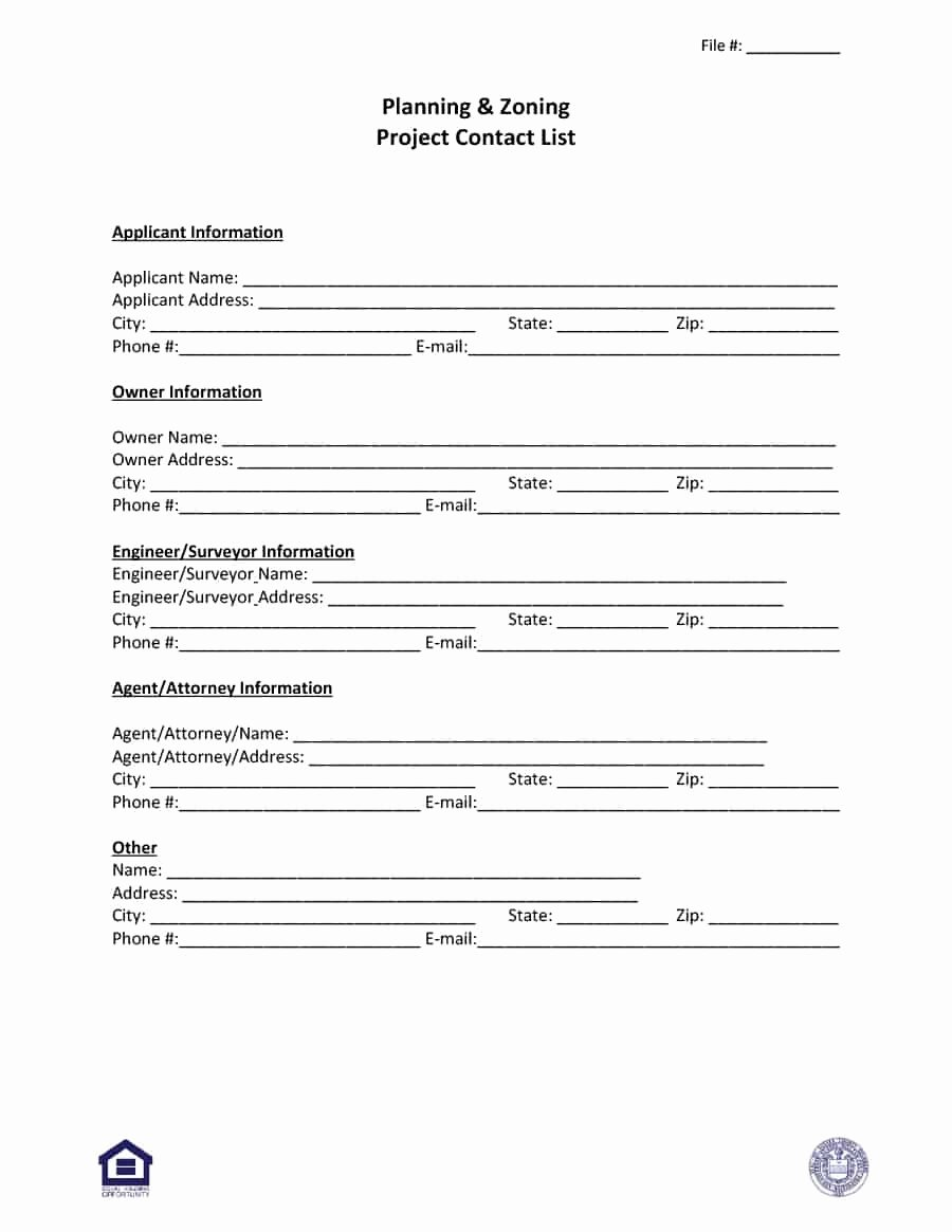 Contact Information form Template Beautiful 40 Phone & Email Contact List Templates [word Excel]