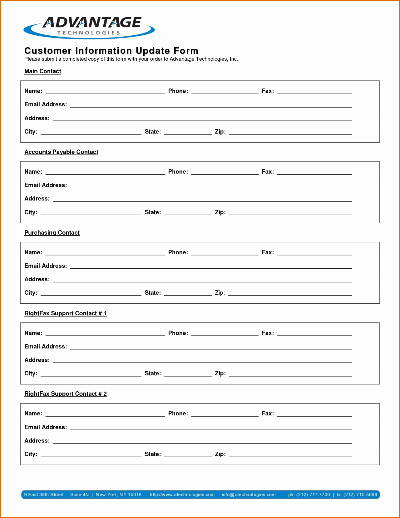 Contact Information form Template Best Of 13 Customer Information form Template