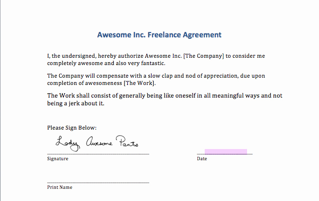 Contract Signature Page Example Luxury Signing Digital Contracts Adding Your Signature to A Ms