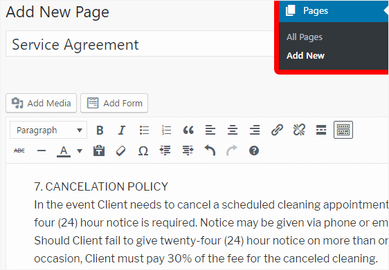 Contract Signature Page Example New How to Create Service Agreements In Wordpress with