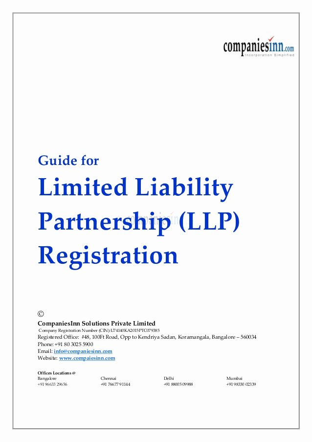 Contract Signature Page Example Unique Guide for Limited Liability Partnership Llp Registration