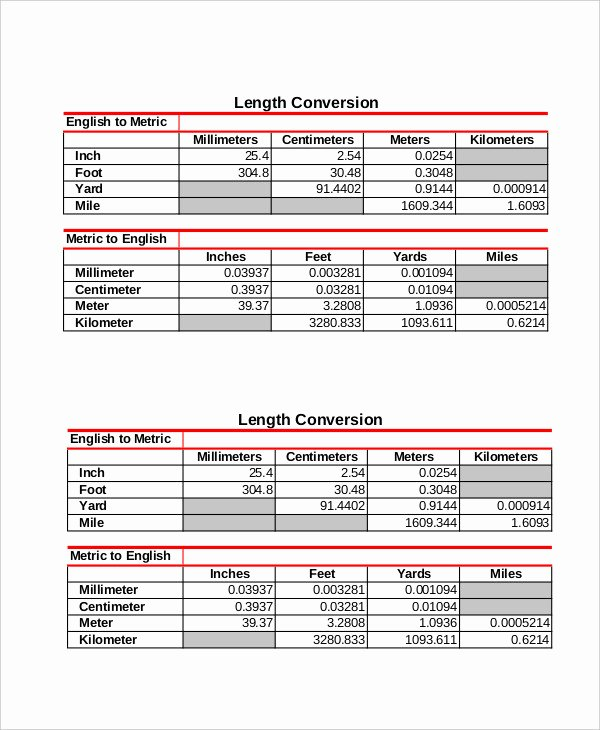 Conversions Metric to Standard Chart Awesome Kids Metric Conversion Chart 7 Free Pdf Documents