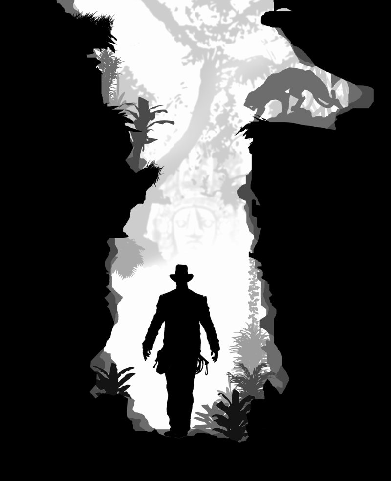 Cool Black and White Paintings Elegant Indiana Jones Silhouette Art Shows Awesome Untold