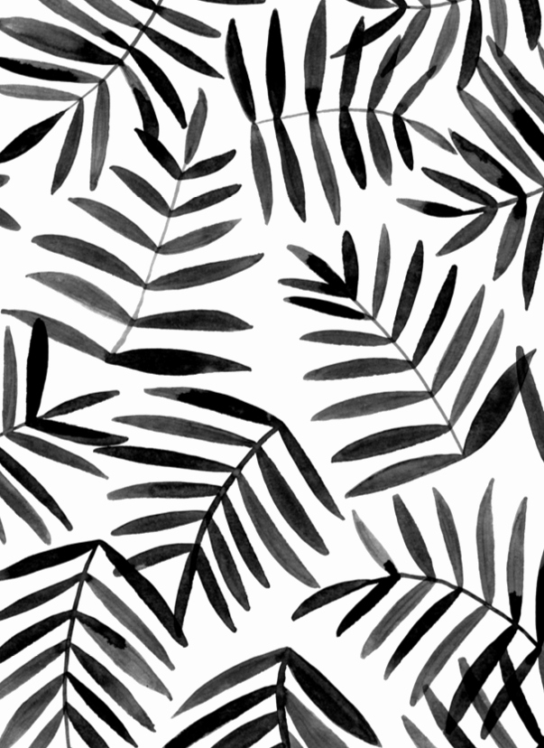 Cool Black and White Paintings New Black Palm
