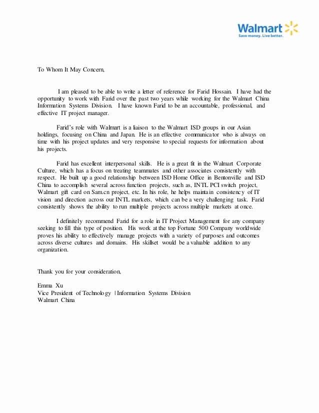 Copy Of Recommendation Letter Lovely Farid Hossain Re Mendation Letter Copy