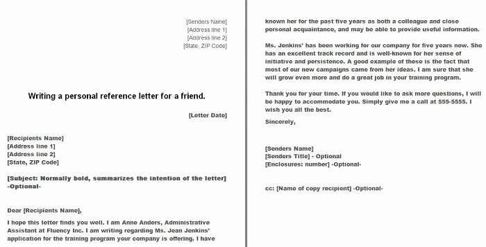 Copy Of Recommendation Letter New 40 Awesome Personal Character Reference Letter