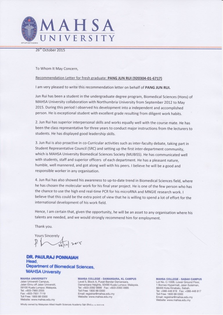 Copy Of Reference Letter Beautiful Re Mendation Letter From Hod Copy