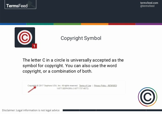 Copyright All Rights Reserved format Awesome Sample Copyright Notices