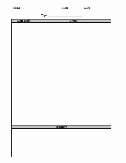 Cornell Note Template Word Lovely Note Taking Strategies the Religion Teacher