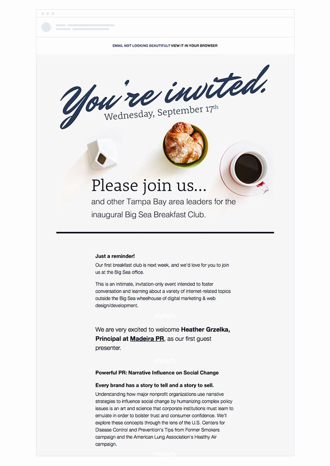 Corporate event Invitation Sample Luxury 4 event Invitation Emails that Draw Crowds