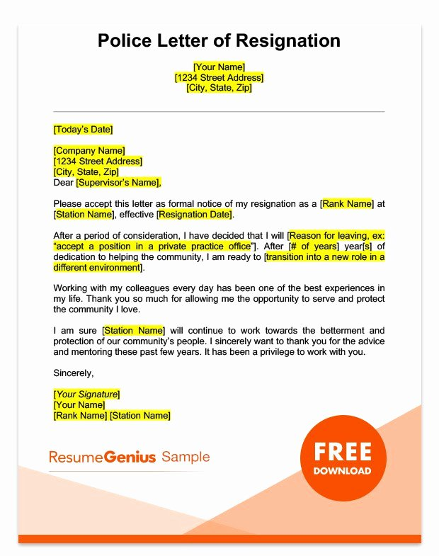 Corporate Officer Resignation Letter Fresh Career Specific Resignation Letters