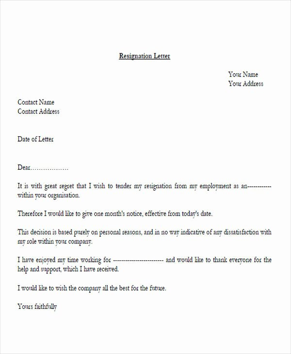 Corporate Officer Resignation Letter Lovely 33 Resignation Letters Samples & Templates In Pdf