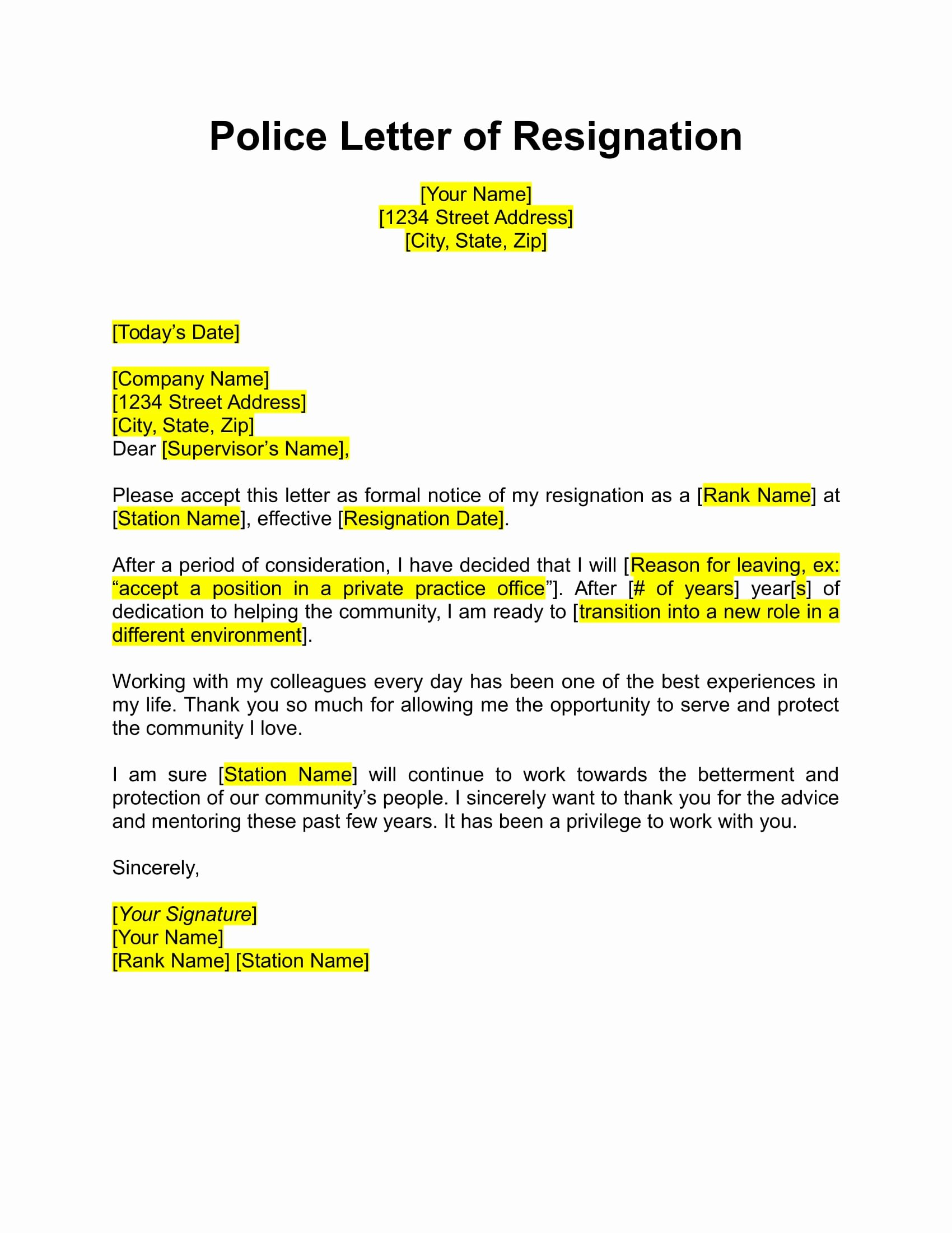 Corporate Officer Resignation Letter Luxury 17 Free Resignation Letter Pdf Doc
