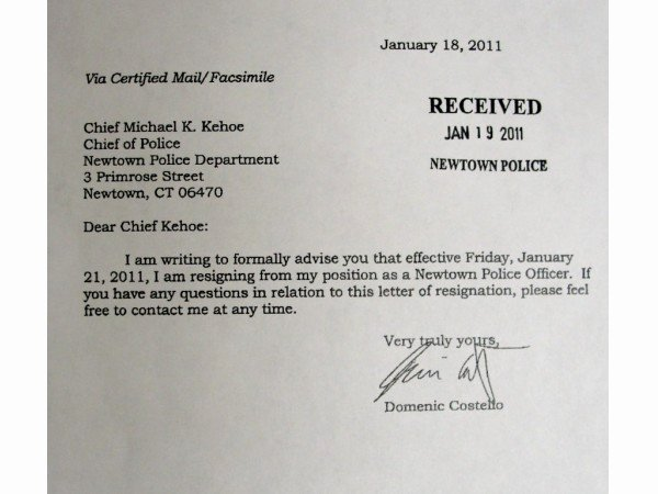 Corporate Officer Resignation Letter Luxury Read Resignation Letters Of 2 Ficers at Center Of Police