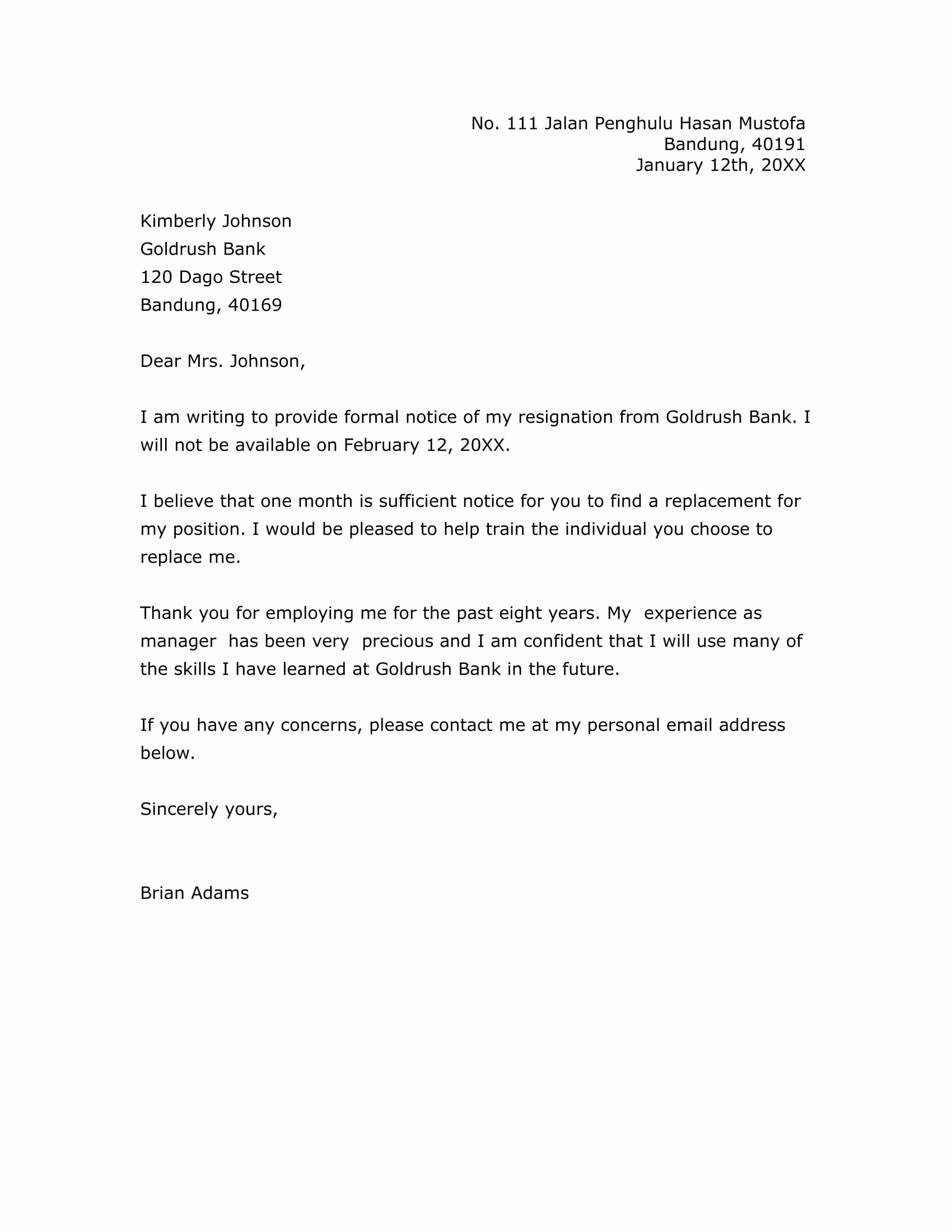 Corporate Officer Resignation Letter New 17 Free Resignation Letter Pdf Doc