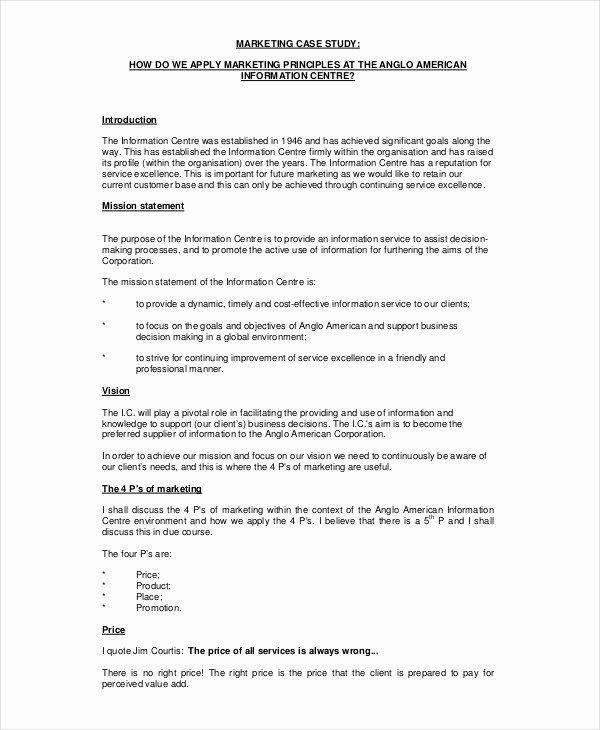 Counseling Case Study Example Elegant 10 Case Study Templates Free Sample Example format