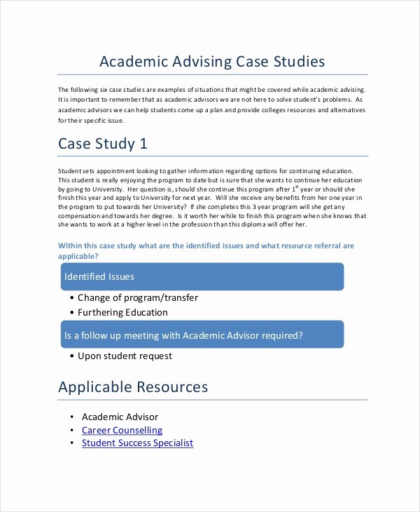 Counseling Case Study Example Fresh 10 Case Study Templates Free Sample Example format