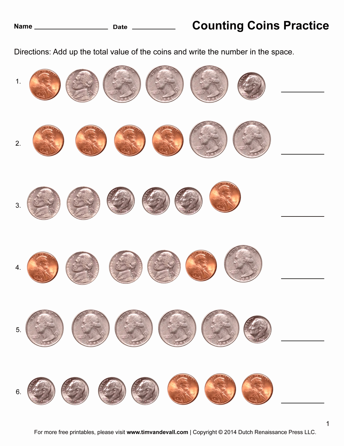Counting Coins Worksheets Awesome Counting Coins Worksheets – Printable First Grade Math