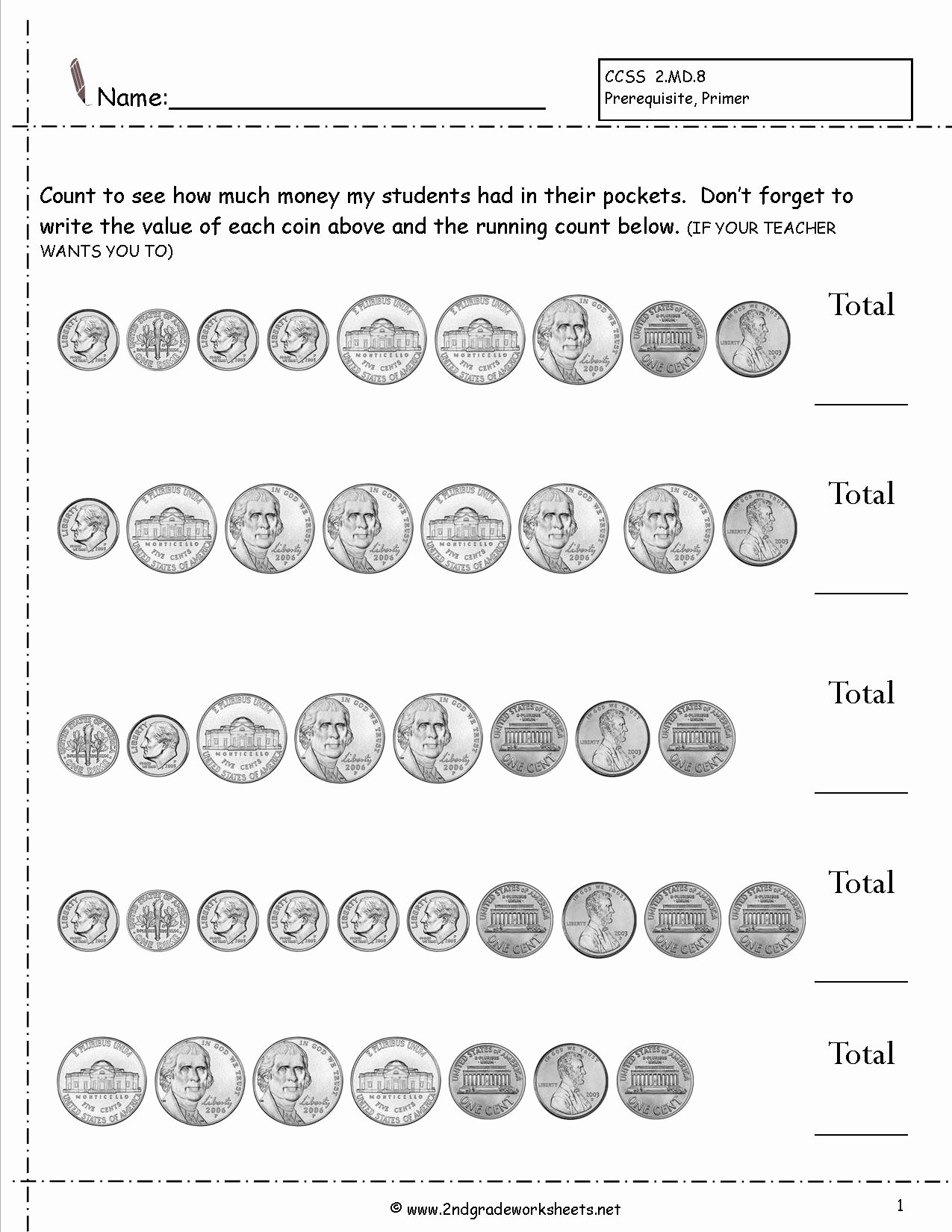 Counting Coins Worksheets Best Of Counting Coins and Money Worksheets and Printouts