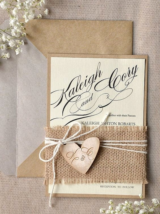 Country Wedding Invitation Ideas Awesome 22 Cute Burlap Wedding Invitation Ideas Weddingomania