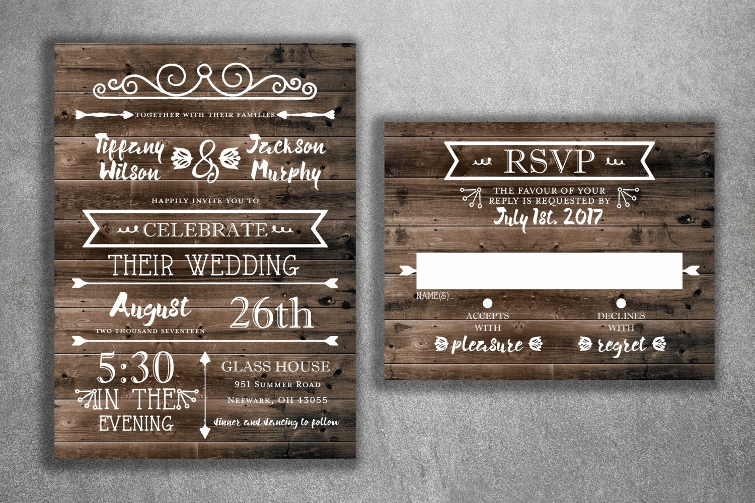 Country Wedding Invitation Ideas Beautiful Country Wedding Invitations Set Printed Rustic Wedding