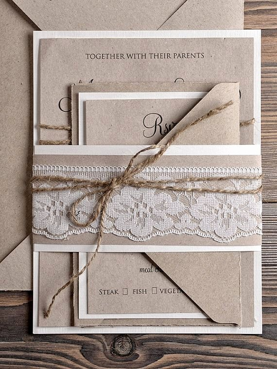 Country Wedding Invitation Ideas Beautiful Natural Recycling Paper Wedding Invitation by