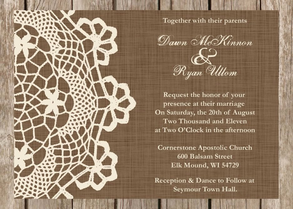 Country Wedding Invitation Ideas Elegant Rustic Wedding Invitations Templates